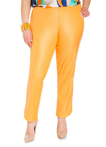 Shimmer Twill Slim Pants