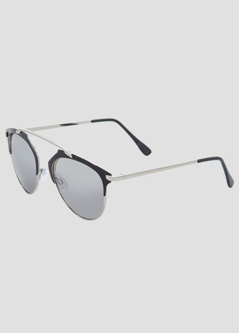 Semi-Rimless Clubmaster Sunglasses
