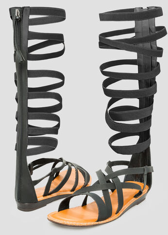 Memory Foam Strap Up Gladiator Sandal