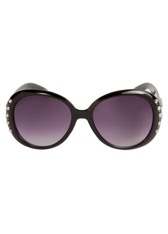 Stud-Trim Round Sunglasses