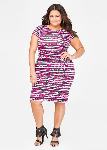 Ruched Waist Dot Dress