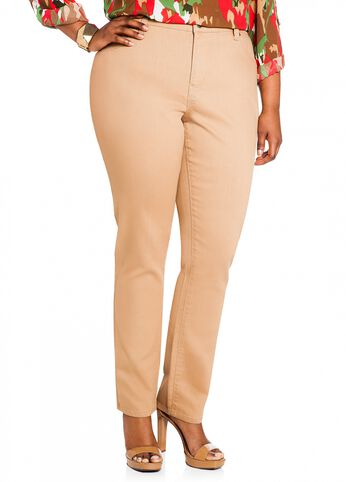 Tan Woven Jegging