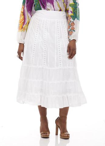 Long Crochet Voille Skirt