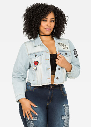 Cropped Patches Jean Jacket