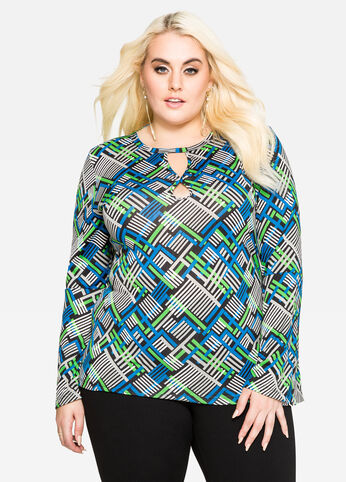 Geo Double Keyhole Top