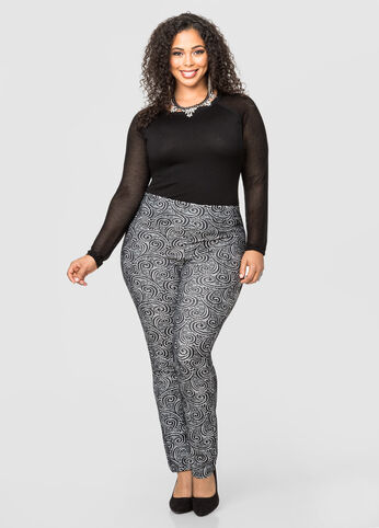 Lace Pull-On Pants