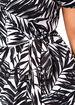 Tropical Print Wrap Dress