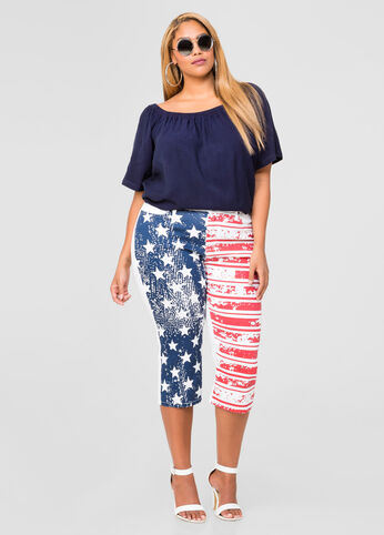 Stars And Stripes Capri Jeggings