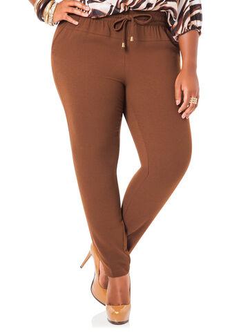 Crepe Skinny Ankle Pants