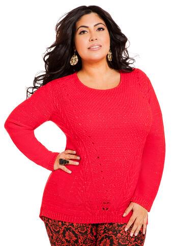 Sparkling Pointelle Sweater