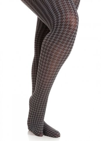 Two-Tone Houndstooth Tights