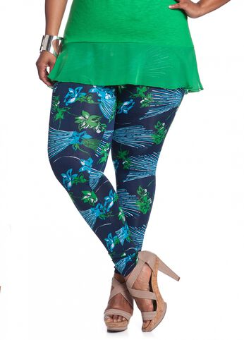 Tropical Floral Print Legging