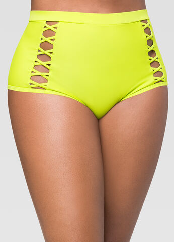 Criss Cross High Waist Bikini Bottom