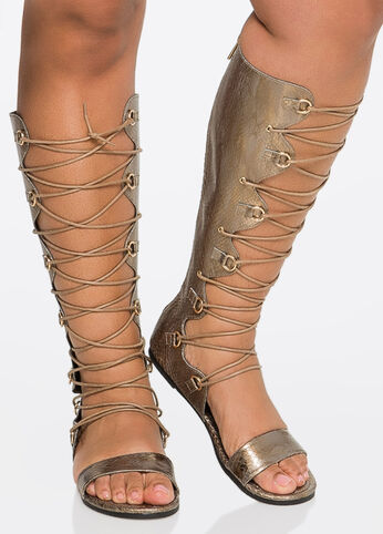 Lace-Up Gladiator - Wide Calf, Wide Width