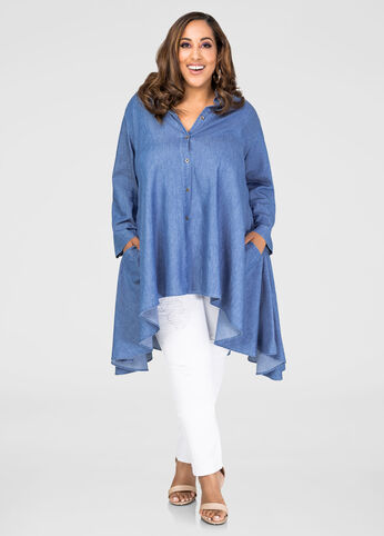Denim Hi-Lo Pocket Tunic