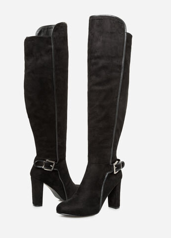 Suede Knee High Boot - Wide Calf, Wide Width