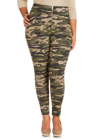 High Waist Camouflage Leggings