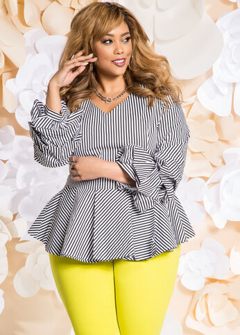 Plus Size Outfits - Perfect in Peplum