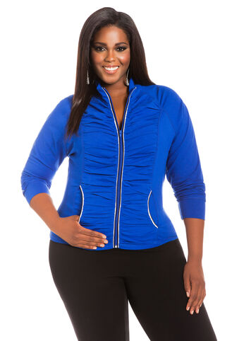 Shirred Active Jacket