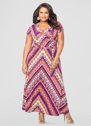 Geo Chevron Maxi Dress