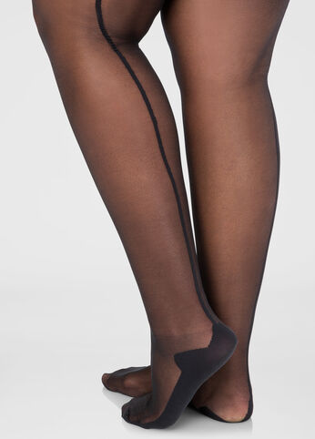 Back Seam Footed Tights