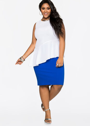Back Slit Ponte Pencil Skirt