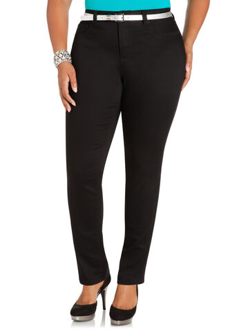 Structured Twill Black Jegging