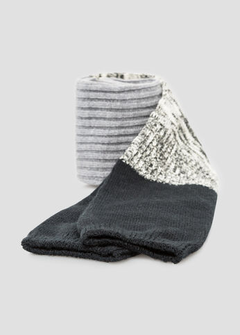 Tri-Tone Over The Knee Boot Socks