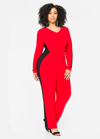 Tie Back Colorblock Jumpsuit