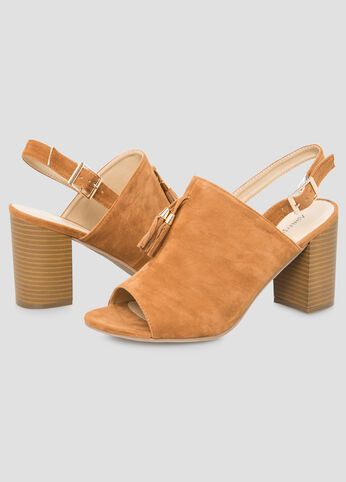 Block Heel Mule Sandal - Wide Width