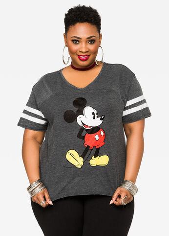 Classic Disney Mickey Mouse Hi-Lo Tee