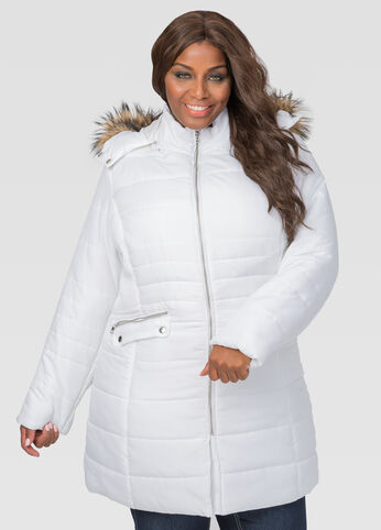 Pleated Puffer Winter Coat