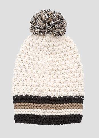 Rugby Stripe Pom Hat