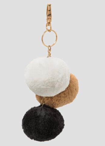 Triple Fur Pom Key Chain Charm