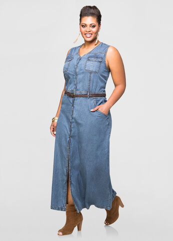 Belted Jean Maxi Dress