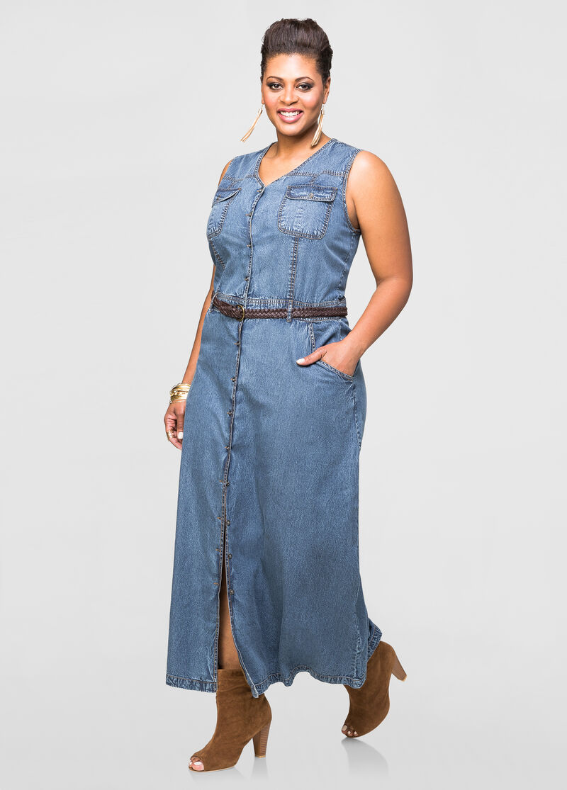 Plus Size Blue Jean Dress | Bbg Clothing