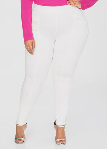 Slant Zip Ponte Leggings