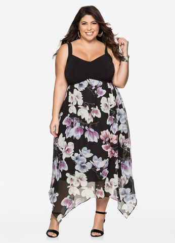 Floral Chiffon Maxi Dresses
