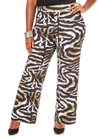 Animal Print Wide Leg Pants