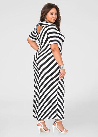 Chevron T-Shirt Maxi Dress