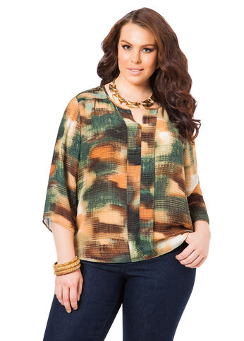 Camo Blouse with Epaulets