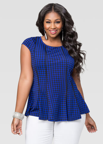 Honeycomb Peplum Top