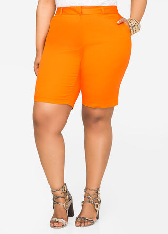 Stretch Sateen Bermuda Short