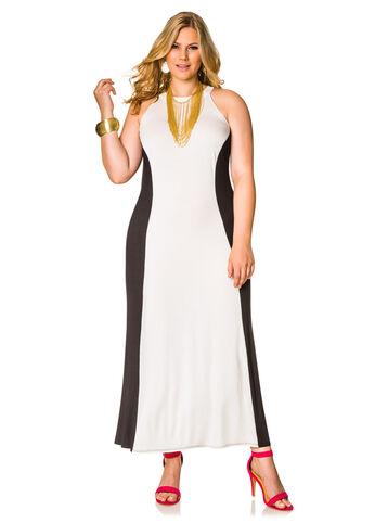 Mock Neck Hourglass Maxi Dress