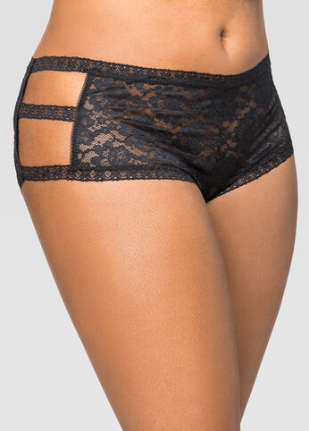 Lace Side Cut-Out Boyleg Panty