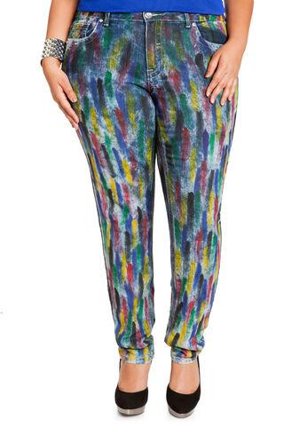 Splatter Paint Denim Pants