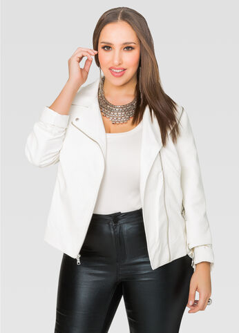 Convertible Quilted Moto Jacket