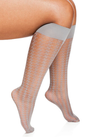 Sheer Houndstooth Trouser Socks