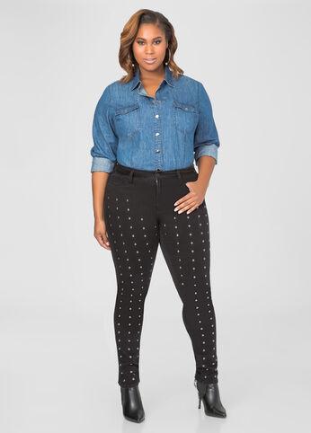 Flat Stud Skinny Jean