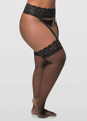 Berkshire Lace Garter Stocking